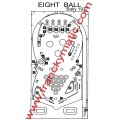 Kit Elastique EIGHT BALL 'Bally 1977