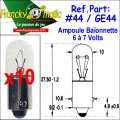 Ampoule Baionnette 7.V-GE44 (BA9S) x10