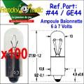 Ampoule Baionnette 7.V-GE44 (BA9S) x100