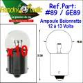 Ampoule Baionnette 12.V-GE89 (BA15S) x10