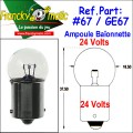 Ampoule Baionnette 24.V-GE67 (BA15S) x1