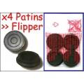 PATIN Ctchc. Pied de Flipper (Noir) x4