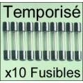Fusible 5x20/250V: TEMPO 1,25Amp x10