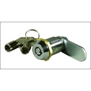Serrure clef RONDE (à pompe): 18.mm