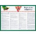Affiche Règles de jeu: 8 POOL (42x30cm)