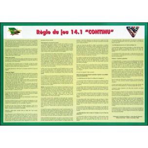 Affiche Règles de jeu: AMERICAIN (42x30cm)