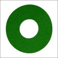 Air Hockey: FEUTRINE VERTE, 95.mm (pour poignée Pro.)
