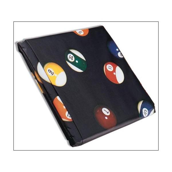 Housse billard vinyle bleu ba 8ft 255x145x20 anim 39 jeux for Housse queue de billard