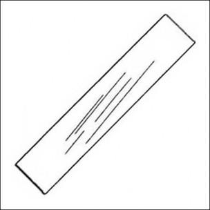 Hublot / Vitre de billard : 770 x 85 x 6.mm