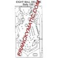 Kit Elastique EIGHT BALL DELUXE 'Bally 1981