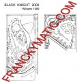 Kit Elastique BLACK KNIGHT 2000 'williams 1989