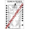 Kit Elastique GUNS N 'ROSES 'Data East 1994