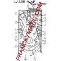 Kit Elastique LASER WAR 'Data East 1987