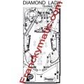 Kit Elastique DIAMOND LADY 'Gottlieb 1988