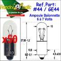 Ampoule Baionnette 7.V-GE44 (BA9S) x50