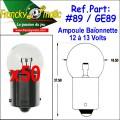 Ampoule Baionnette 12.V-GE89 (BA15S) x50