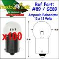 Ampoule Baionnette 12.V-GE89 (BA15S) x100