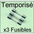 Fusible 5x20/250V: TEMPO 1,25Amp x3