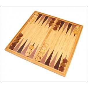 Backgammon: Bois de Bambou (30x15x5.cm)